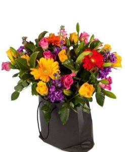 Colourful Floral Gift Bag Medium