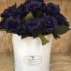 purple preserved roses