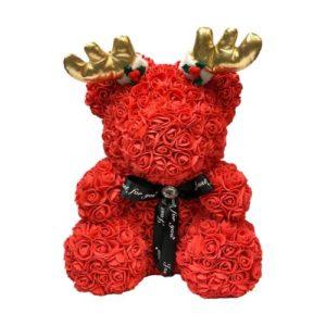 Rose Bear Christmas Gift